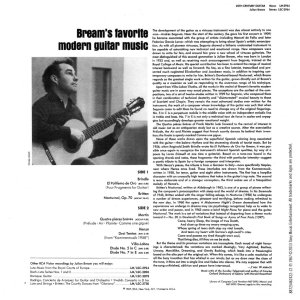 Julian Bream 20th Century Guitar backLOW
