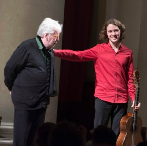 Sir Harrison Birtwistle and Andrey Lebedev, St John's Smith Square, December 2014 ©Thérèse Wassily Saba